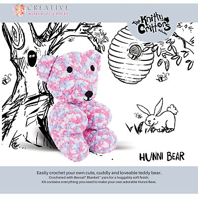 Knitty Critters Hunni Bear Crochet Kit 5052201029187
