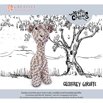 5052201029194: Knitty Critters Geoffrey Giraffe Crochet Kit