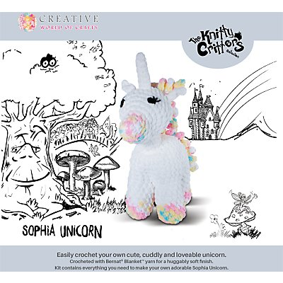 5052201029200 | Knitty Critters Sophia Unicorn Crochet Kit
