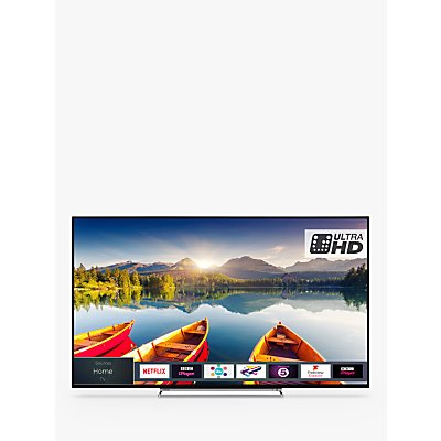 Toshiba 55U6863DB LED HDR 4K Ultra HD Smart TV, 55 with Freeview HD & Freeview Play, Black