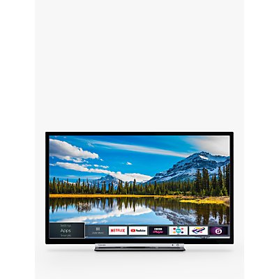 Toshiba 24W3863DB LED HD Ready 720p Smart TV, 24 with Freeview HD & Freeview Play, Black