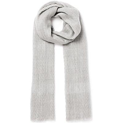 Unmade Auroa Chevron Scarf  Soft Grey - 5709578410956