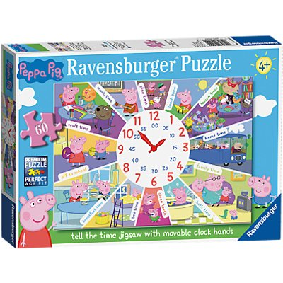 Peppa Pig Tell The Time Jigsaw Puzzle, 60 Pieces
