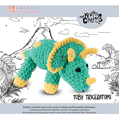 5052201029231 | Knitty Critters Toby Triceratops Crochet Kit