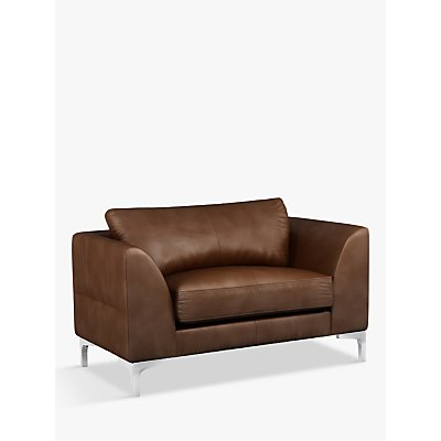 John Lewis & Partners Belgrave Leather Snuggler, Metal Leg