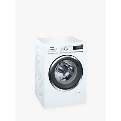 Siemens WM16W5H0GB Freestanding Washing Machine with Home Connect, 9kg Load, A+++ Energy Rating, 1600rpm Spin, White