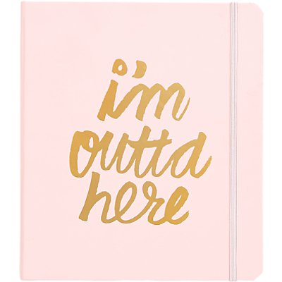 ban do I m Outta Here Travel Planner Notebook - 825466953024