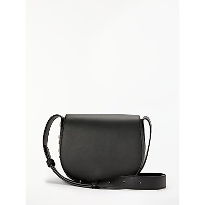 DKNY Bedford Leather Saddle Cross Body Bag, Black