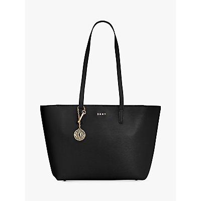 DKNY Bryant Medium Leather Tote Bag, Black