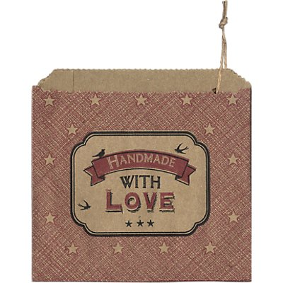 East of India Handmade With Love Paper Bags  Pack Of 40 - 5039041061904