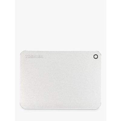 Toshiba Canvio Premium  Portable Hard Drive  USB 3 0  2TB  Silver - 4051528219999