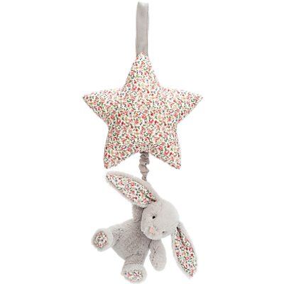 Jellycat Blossom Bunny Musical Pull Soft Toy, Silver