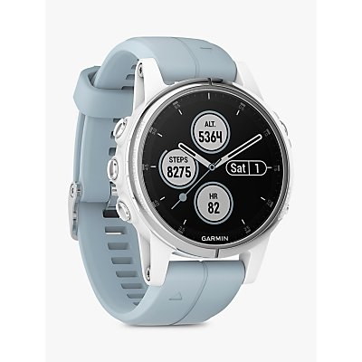 Garmin fēnix 5S Plus GPS Multisport Watch, White with Sea Foam Band, 4.2cm