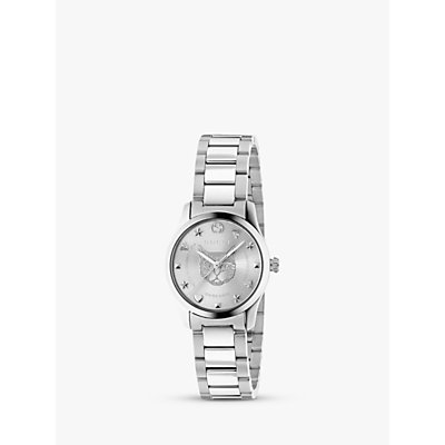 Gucci YA126595 Women s G Timeless Bracelet Strap Watch  Silver - 0731903457843