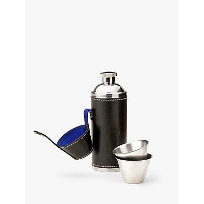 Aspinal of London Hunter 6oz Leather Hip Flask - 5055264123908