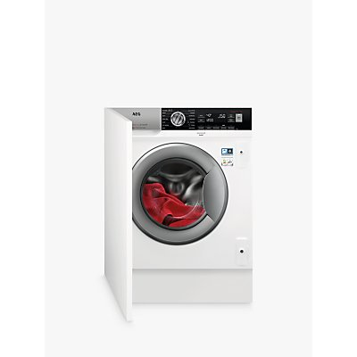 AEG ProSteam Technology L7FC8432BI Integrated Washing Machine, 8kg Load, A+++ Energy Rating, White