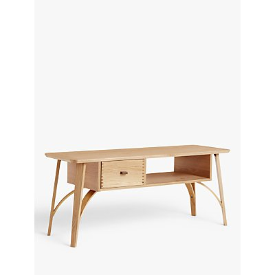 John Lewis & Partners Branch TV Stand for TVs up to 60, Oak