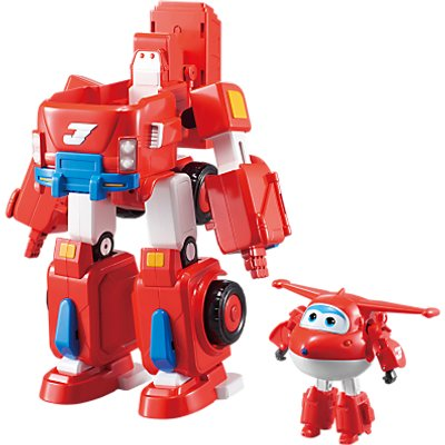 Super Wings Transforming Jett's Super Robot Suit
