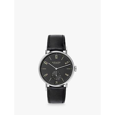 NOMOS Glashütte 604 Unisex Tangomat Automatic Date Leather Strap Watch, Black