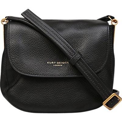Kurt Geiger Small Emma Saddle Handbag, Black