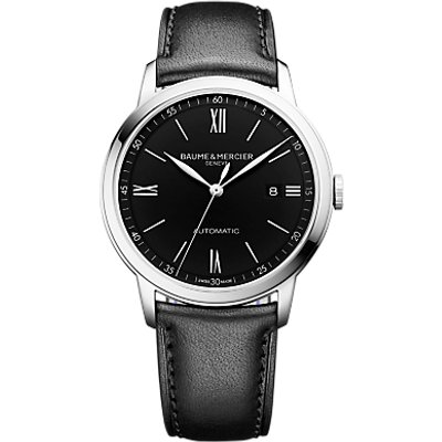 7613268945193 | Baume et Mercier M0A10453 Men s Classima Automatic Date Leather Strap Watch  Black