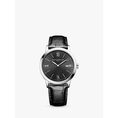 7613268895177 | Baume et Mercier M0A10416 Men s Classima Date Leather Strap Watch  Black