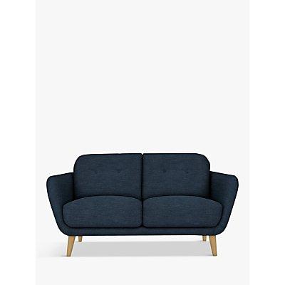 House by John Lewis Arlo Small 2 Seater Sofa, Light Leg, Erin Midnight