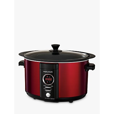 Morphy Richards Digi Sear and Stew Slow Cooker, Red
