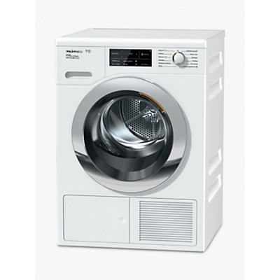 Miele TCJ680WP Tumble Dryer, 9kg Load, A+++ Energy Rating, White