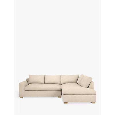 John Lewis & Partners Tortona RHF Chaise End Sofa, Light Leg, Maria Putty