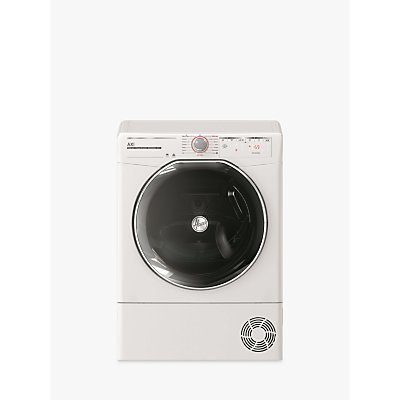 Hoover ATD HY10A2KEX-80 Freestanding Heat Pump Tumble Dryer, 10kg Load, A++ Energy Rating, White