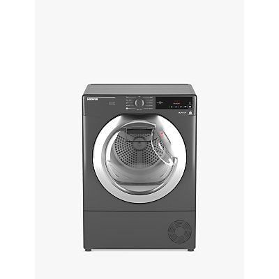 Hoover DXC8TCER Condenser Tumble Dryer, 8kg Load, B Energy Rating, Grey