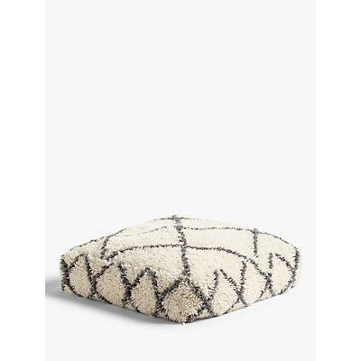 John Lewis   Partners Berber Floor Cushion  Mono - 5057618945631