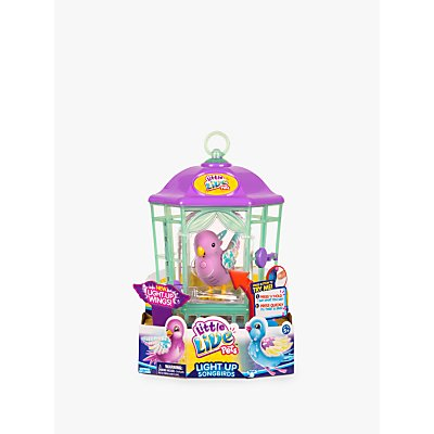 Little Live Pets Light Up Songbirds Bird Cage