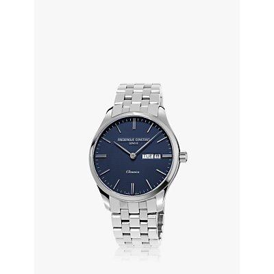 Fr  d  rique Constant FC 225NT5B6B Men s Bracelet Strap Watch  Silver Blue - 7688200309821