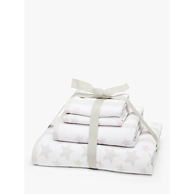 5057618019974 | little home at John Lewis Stars   Stripes Towel Bale