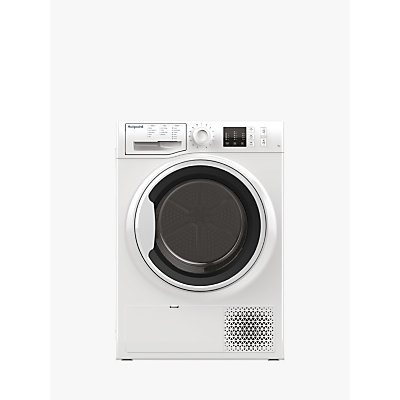 Hotpoint NTM1081WKUK Condenser Tumble Dryer, 8kg Load, A+ Energy Rating, White