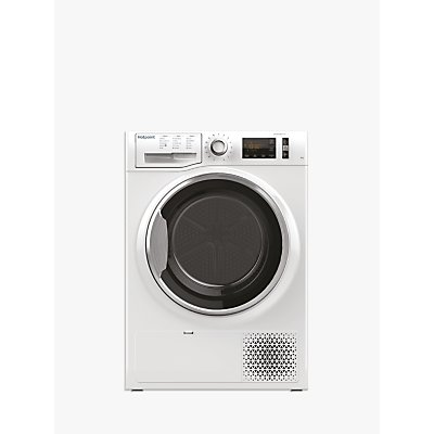 Hotpoint NTM1182XBUK Heat Pump Tumble Dryer, 8kg Load, A++ Energy Rating, White
