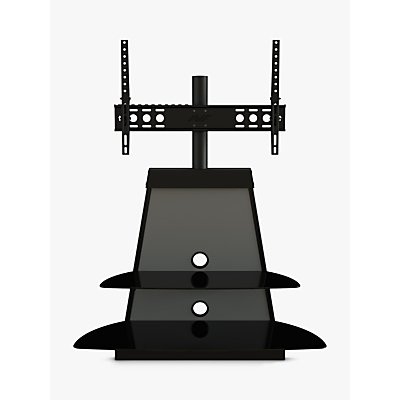 AVF Shore TV Stand with Mount for TVs 37 to 65, Black & Grey