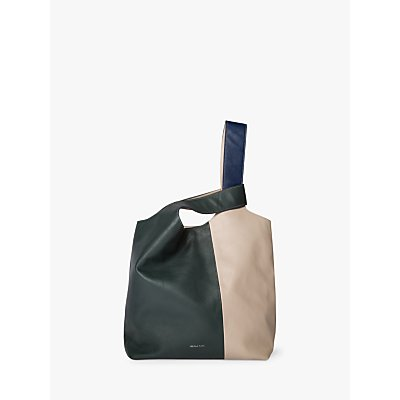 Paul Smith Leather Colour Block Hobo Bag