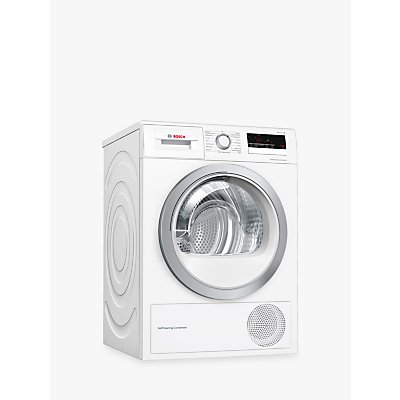 Bosch Serie 4 WTW85231GB Heat Pump Freestanding Tumble Dryer, 8kg, A++ Energy Rating, White