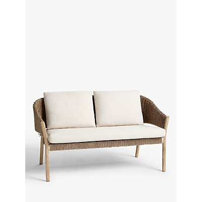 Croft Collection Burford Garden Woven 2-Seat Sofa, FSC-Certified (Acacia Wood), Natural