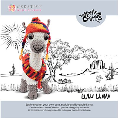 5052201035850 | Knitty Critters Lulu Llama Crochet Kit