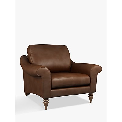 John Lewis & Partners Camber Leather Snuggler, Dark Leg