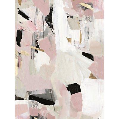 John Lewis & Partners - Black Rose Gold II Canvas Print, 80 x 60cm, Pink/Multi