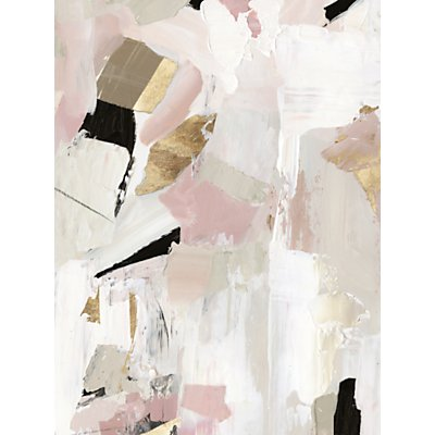 John Lewis & Partners - Black Rose Gold I Canvas Print, 80 x 60cm, Pink/Multi