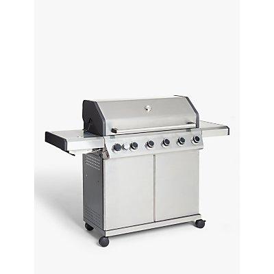 John Lewis & Partners 6 Burner Gas BBQ, Silver