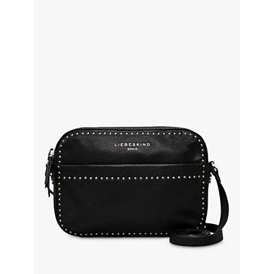 Liebeskind Berlin Stud Love Leather Camera Bag, Black