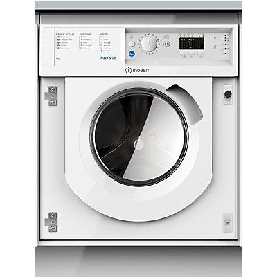 Indesit BIWMIL71452UK Integrated Washing Machine, 7kg Load, 1400rpm, A++ Energy Rating, White
