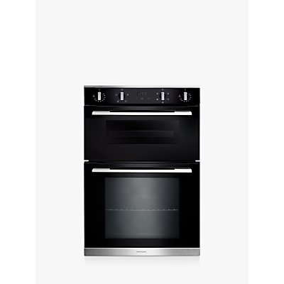 Rangemaster RMB9045BL/SS Built-In Double Electric Oven, A Energy Rating, Black